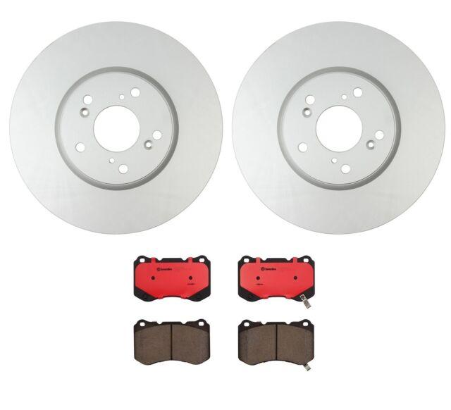 Brembo / OPparts Front Brake Kit Disc Rotors Ceramic Pads