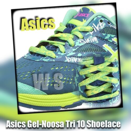 Asics Gel Noosa Tri 10 shoelaces laces made in taiwan
