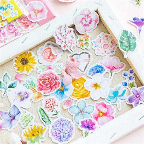 45X Kawaii Journal Diary Decor Flower Stickers Scrapbooking Stationery SupplyM/&R