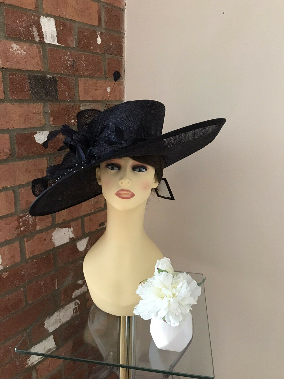 Snoxell & Gwyther Hat, Wedding Occasion,Formal Races Navy