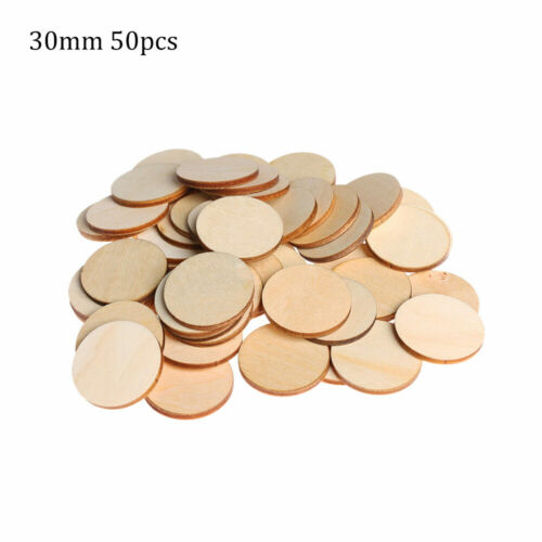 Circles Ring Craft Decorative Wooden Embellishment Card Making Scrapbooking