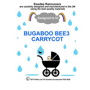 Koodee-UK-protector-contra-la-lluvia-Para-Adaptarse-Bugaboo-BEE3-Capazo-Capazo-BNIP