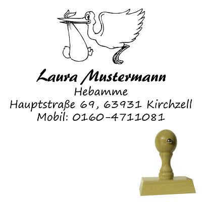 Firmenstempel Adressenstempel « HEBAMME » mit Kissen