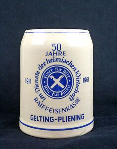 Bierkrug-Raiffeisenkasse-Raiffeisen-Gelting-Pliening-Bayern-Ebersberg-Beer-Mug