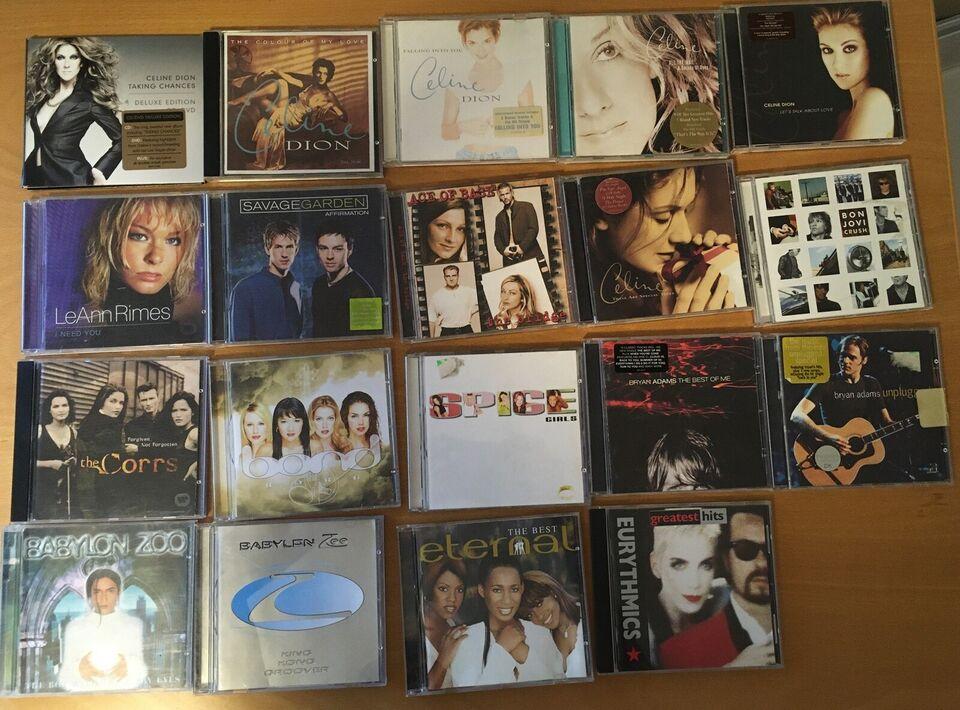 Blandet: Pop og dansk musik på CD sælges, pop