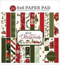 6 X 6 Christmas Paper Pad BoBunny Yuletide Carol 6 X 6 Christmas Card Stock Traditional Christmas CHRISTMAS PAPER PAD 6 x 6 Card stock