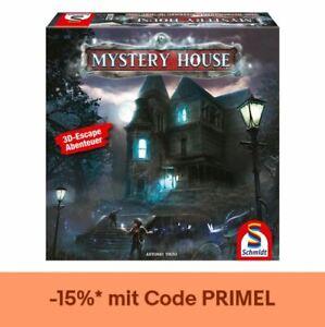 Schmidt Spiele Mystery House, Escape Spiel, Abenteuerspiel, 3D Escape Room