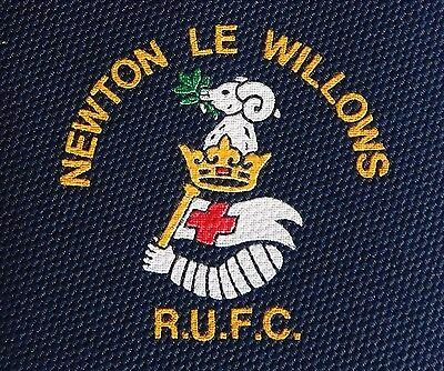 Newton Le Willows tie Rugby Union Football Club RUFC team crest  logo Lancashire