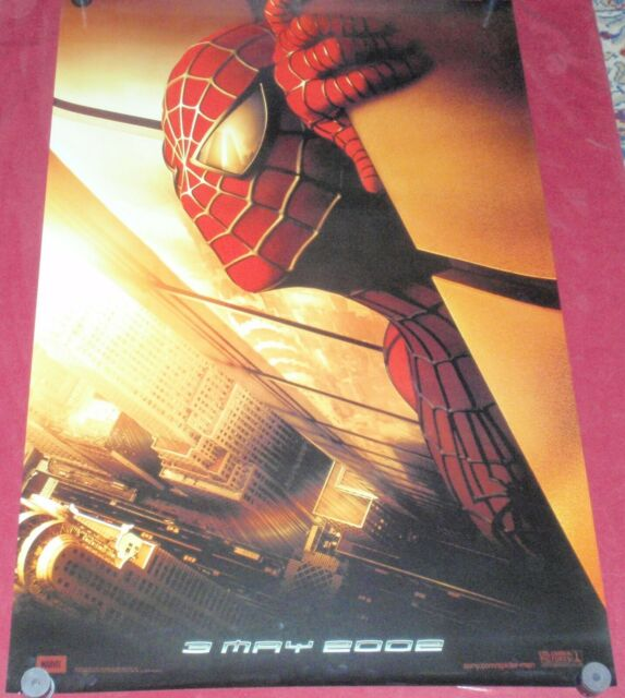 Spider Man Movie Poster Recalled 27 X 40 Marvel Wtc Twin Towers Toby Mcgwire New