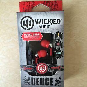 NEW, Genuine Wicked Audio Deuce Earbuds WI-1856 RED