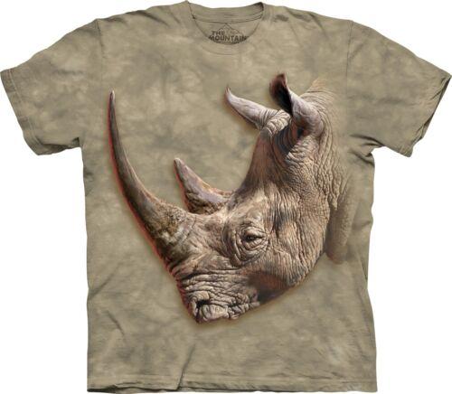 La montagne unisexe enfant Rhinocéros Blanc Animal T Shirt