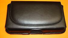 "3""x 6"" Leather Pouch Case W/Clip GreatCall JITTERBUG SMART T3 Touch Senior Phone"