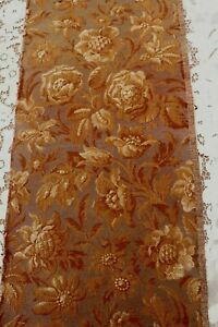 Antique-c1890-1915-French-Cotton-Floral-Jacquard-Tapestry-Fabric-Sample-28-034-X12-5