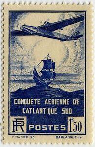 Francia-Stamp-Francobollo-N-320-034-Attraversando-Aerea-Atlantique-Sud-1F50-034