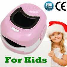 Kids Finger Pulse Oximeter Spo2 Pr Pink Blood Oxygen Monitor Fda Ce Cms50qa
