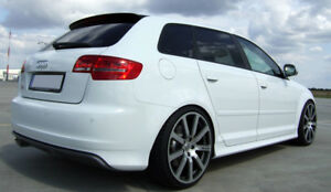 audi a3 8p sportback 5 portes aileron becquet s line s3 style 2005 2013 ebay. Black Bedroom Furniture Sets. Home Design Ideas