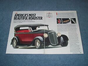 Details about 1935 Chevrolet Phaeton Street Rod Article