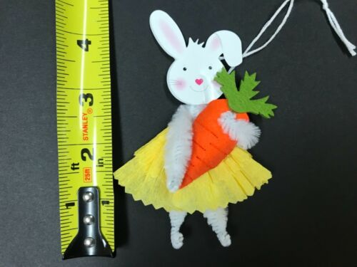 bunny gift tags item #30G EASTER decoration Chenille feather tree ornaments