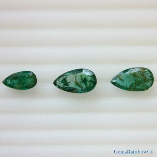 Zambian Emerald Details about  /Natural Emerald Pear Green colour #552 12x6.5mm to 15x8.5mm