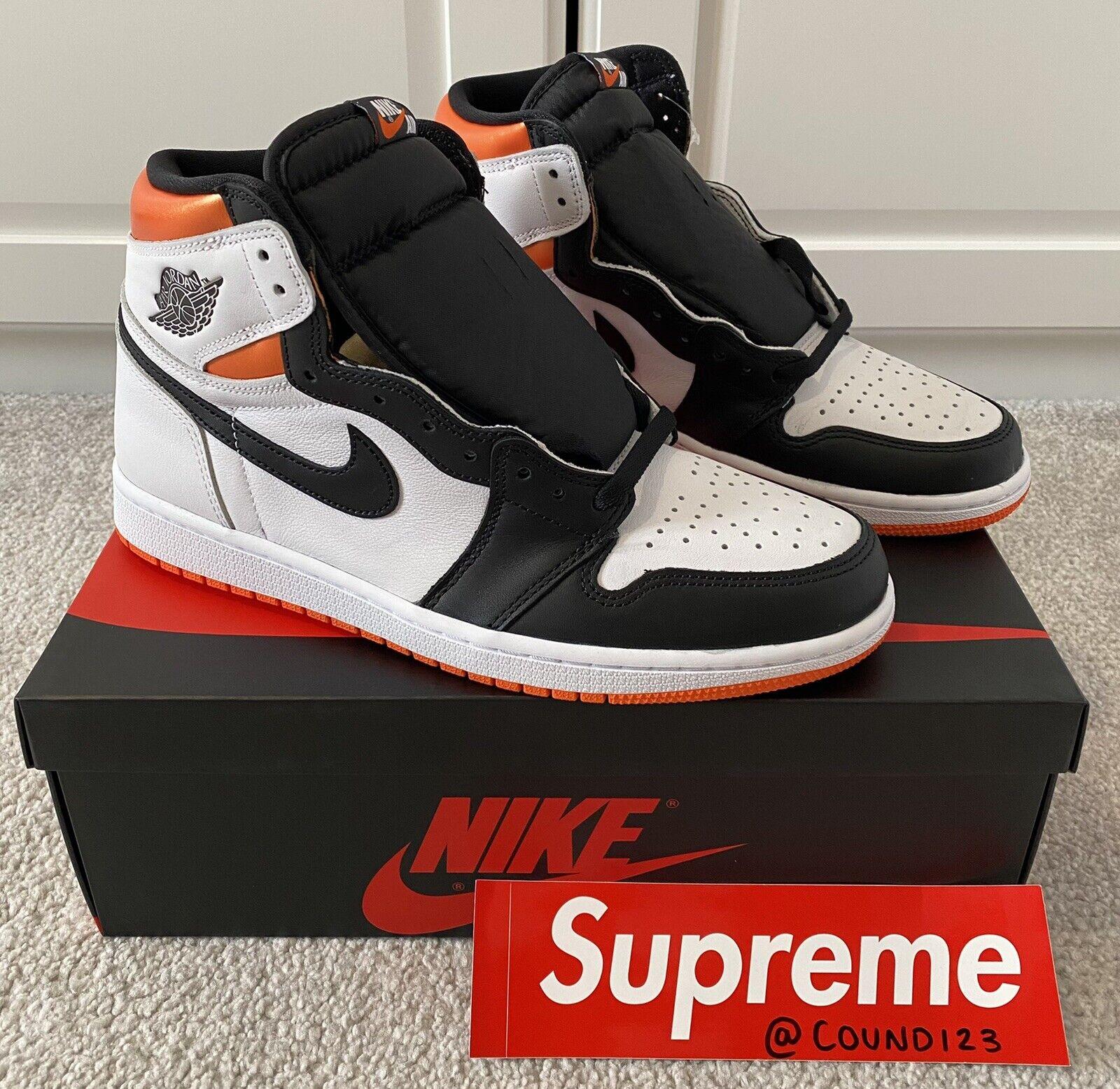 Nike Air Jordan 1 Retro High 'Electro Orange'   UK 9   Brand New   Fast Ship🚚📦