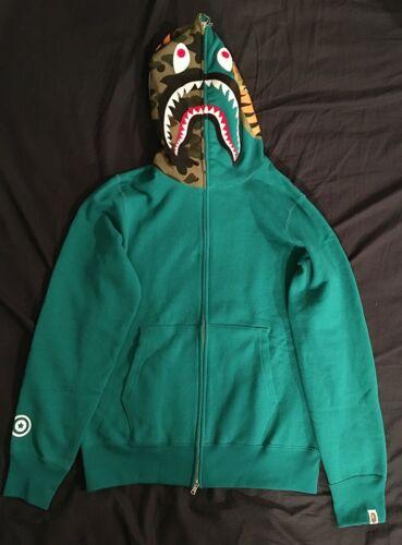 A perfette Ape Bape Shark M Condizioni Bathing cappuccio con Felpa Bnwt taglia f7dwpAqdK