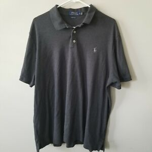 Men-s-POLO-RALPH-LAUREN-Classic-Fit-Gray-Short-Sleeve-Polo-Shirt-Size-XL