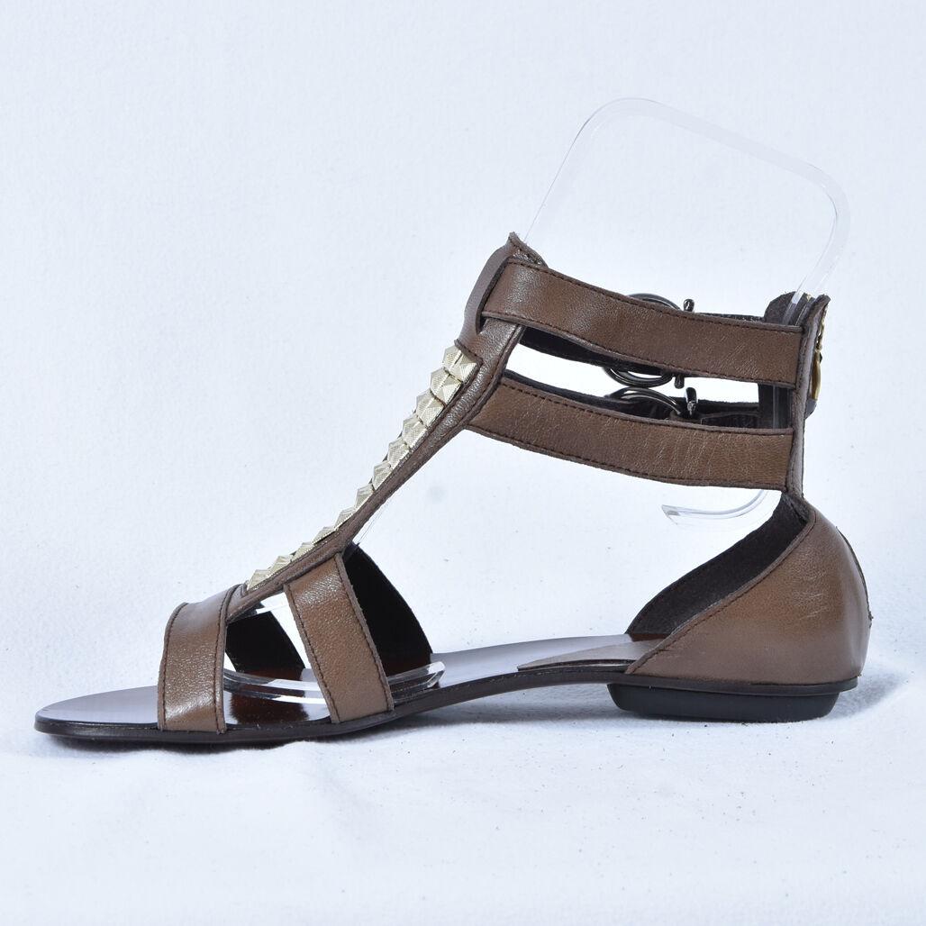 Conhpol Chaussures Femmes Sandales Cuir Neuves Sandales 36-39 Marron