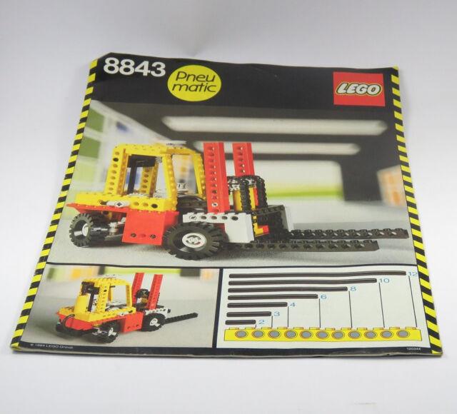 Vintage Technic Lego 8843 Fork Lift Truck Instruction Manual Ebay