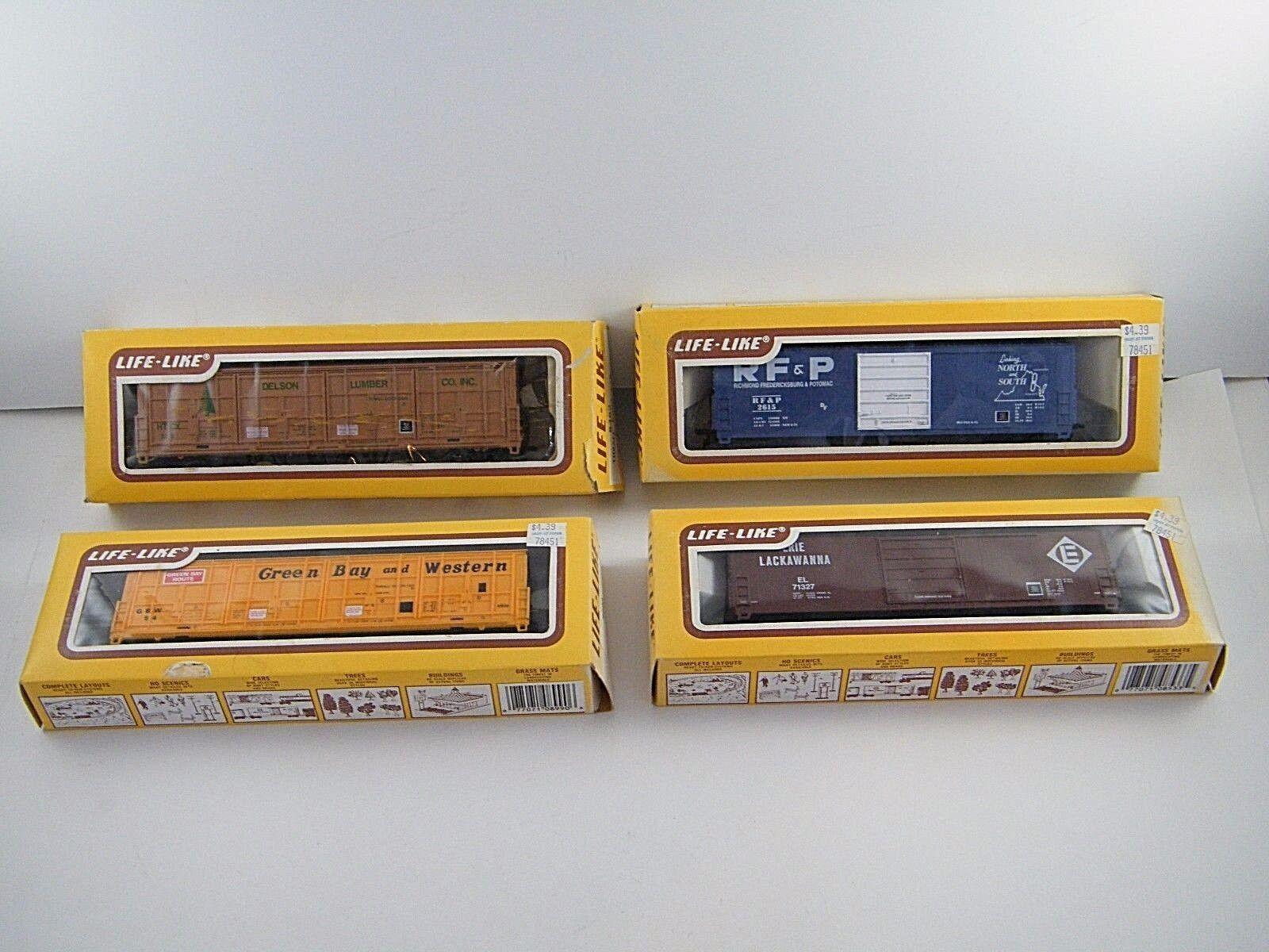 (4) Nueva Vida-como la Caja de escala HO Coches    8482, 8990, 8528, 8533  en cajas