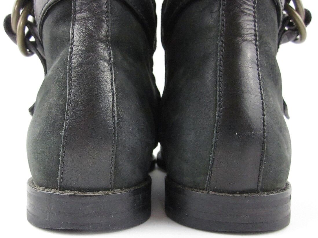 Cole Haan 'Air Liberty' Flat Riding Boot Black Vintage Vintage Vintage Leather Size 9B  298.00 fa96e6