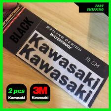 KAWASAKI BLACK Sticker KX ZX10R ZX6R Z800 Z1000 Ninja Label Decal 3D Tank Moto