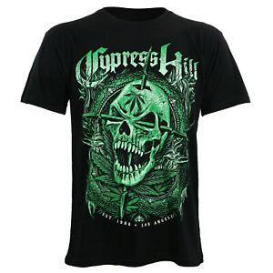 Authentic CYPRESS HILL Skull /& Compass Slim-Fit T-Shirt Black S-2XL NEW