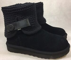 5f9833d4ae2 Details about UGG Australia Women's Shaina Black Knit Boots 1012534 Cuff  Ankle Bootie multiple