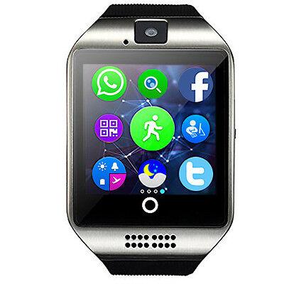 MTK6261D Smart Armbanduhr GSM 1.54 HD 2G Telefon Android iOS Telefon Silber