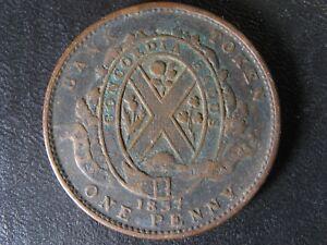 LC-9C1-One-Penny-token-Deux-sous-1837-Bas-Canada-Banque-du-Peuple-Breton-521