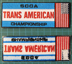 SPORTS-CAR-CLUB-OF-AMERICA-CHAMPIONSHIP-EMBROIDERED-PATCH-PATCHE-ROAD-RACING