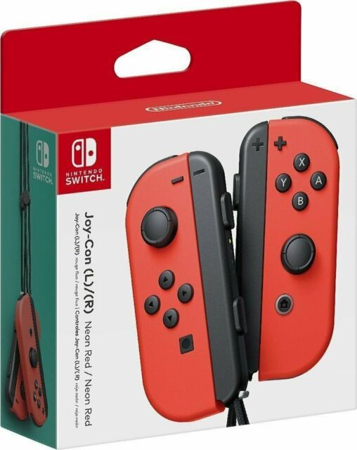 Brand New Nintendo Switch Joy Con Super Mario Odyssey Red Ver Controller Us Ship