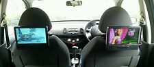 "9"" Twin Screen Portable DVD Player Car Headrest DVD Player Dual Screen In Car"