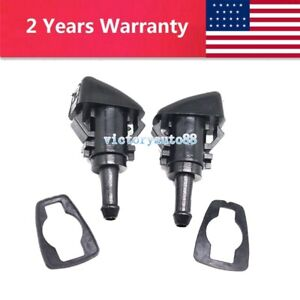 2 Windshield Washer Fluid Spray Nozzle For Dodge Charger Ram 1500 2500 5113049AA