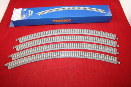 Fine Track Spur N 4 x gebogenes 45° R 354 mm Holzschwelle Tomix 1856 971856