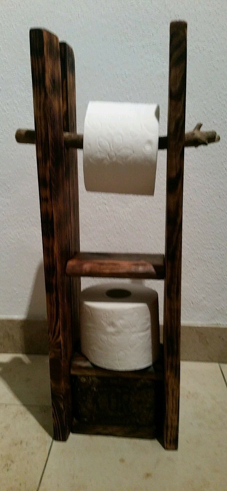 Holz Toilettenpapierhalter KlGoldllenhalter WC WC WC Rolle Pallettenmöbel 0049c9