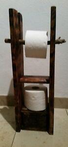 Hervorragend Holz Toilettenpapierhalter Klorollenhalter Rustikal WC Rolle QQ71