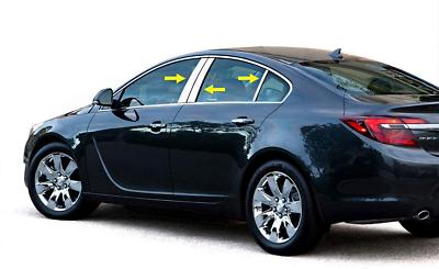 2009-2016 Vauxhall Opel Insignia Deco Chrome Door Handle Cover 4Door S.Steel