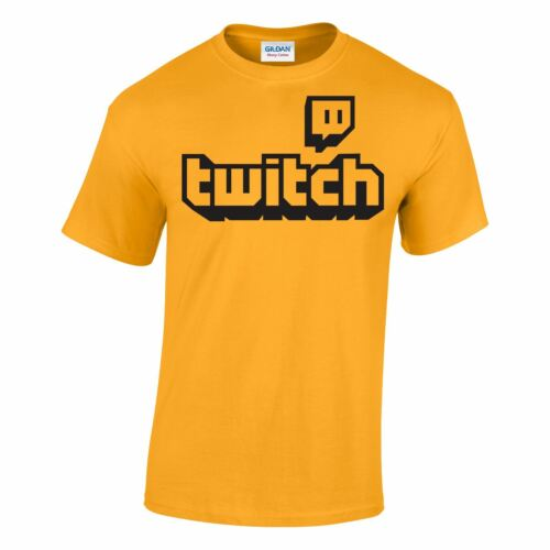 Casual Gaming Dress TWITCH Logo T-shirt Kids /& Adults Tee Sports Fans Unisex