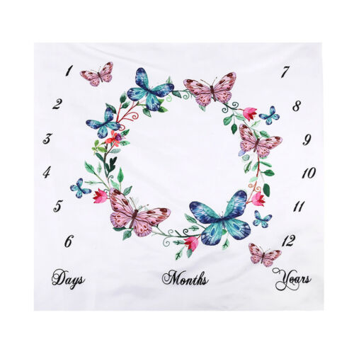 Infant Baby Photo Photography Prop Blankets Letter Backdrop Cloth 100x100cm
