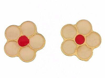 Orecchini Bimba Bambina Farfalline Farfalla Oro Giallo 18 kt Carati Ct 750