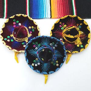 Set-Of-3-Mexican-Mini-Mariachi-Hats-Party-Decoration-Favors-Charro-Sombrero