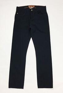HM-pantalone-nero-tg-44-W30-jeans-uomo-usato-slim-gamba-stretta-boyfriend-T246