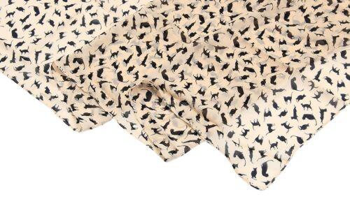 Ladies Girls Shawl Cat Pattern Animal Print Lightweight Wrap Scarf Charm Fashion