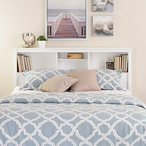 Image Is Loading Full Queen Size Bed Frame White Bookcase Bedroom